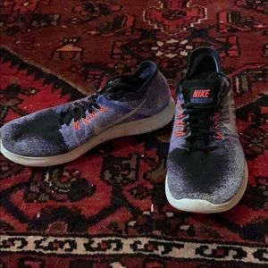 Nike Shoes - Nike Free RN Flyknit Size 7 Purple Orange Blue